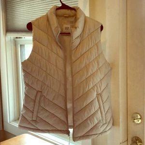 GAP cream puffy vest